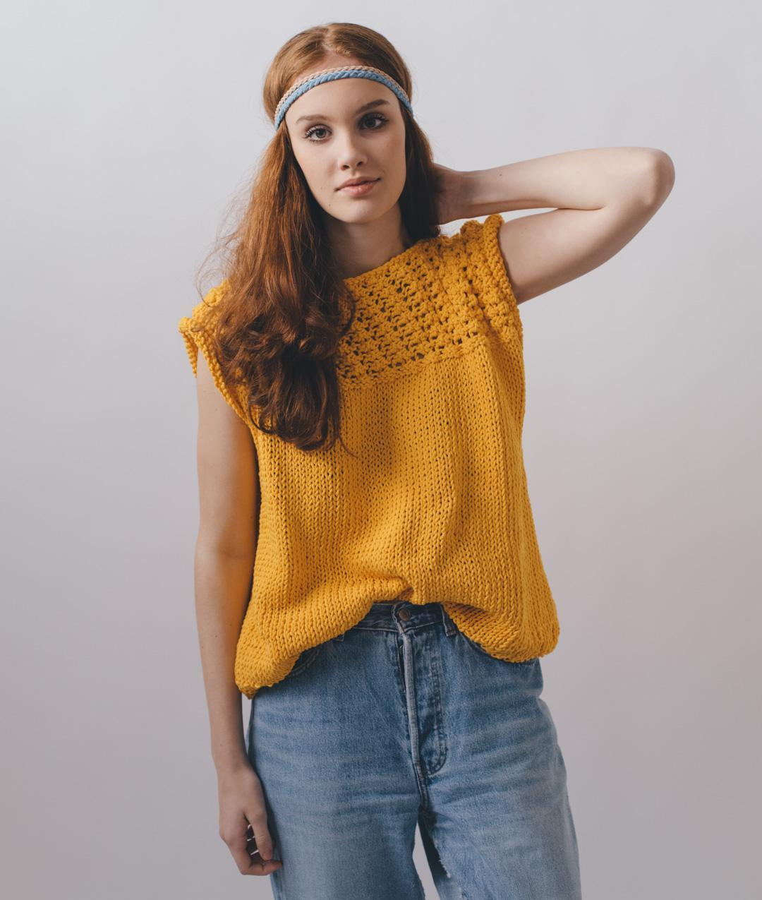 Jenny Tee: Cotton Knit Kit for Sweaters and Tops online + Pattern |  Bettaknit