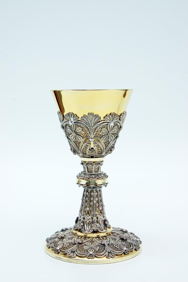 Calice in argento dorato e filigrana lodfilig pietrobon for Pietrobon arredi sacri