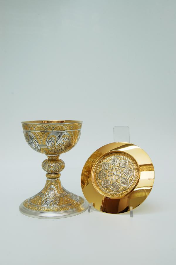 Calice tutto in argento con patena molace2230 pietrobon for Pietrobon arredi sacri