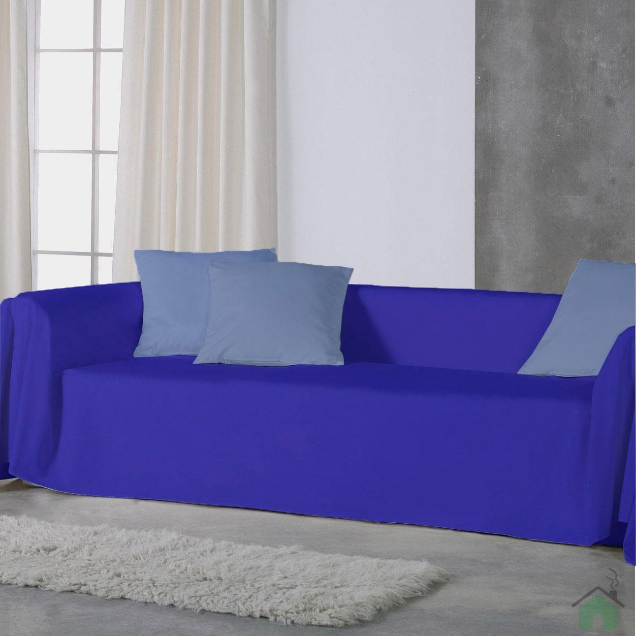 Copridivano telo arredo panama 100 cotone tinta unita 3 misure 20 colori - Telo arredo divano ...
