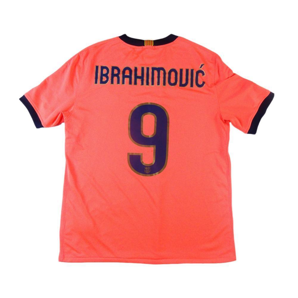 on sale d325d 1f05d 2009-10 Barcelona Ibrahimovic jersey # 9 Away L (Top)