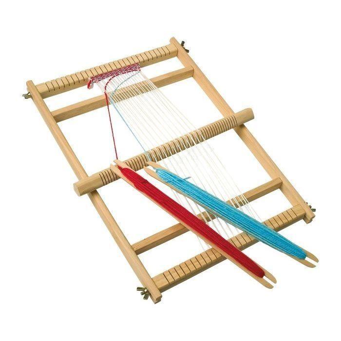 per Gioco Telaio da Tessitura Giocattolo con 2 stecche Scuola