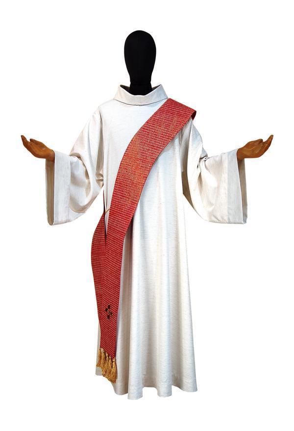 Stola diaconale sdp311 m2 rossa seta greggia for Pietrobon arredi sacri