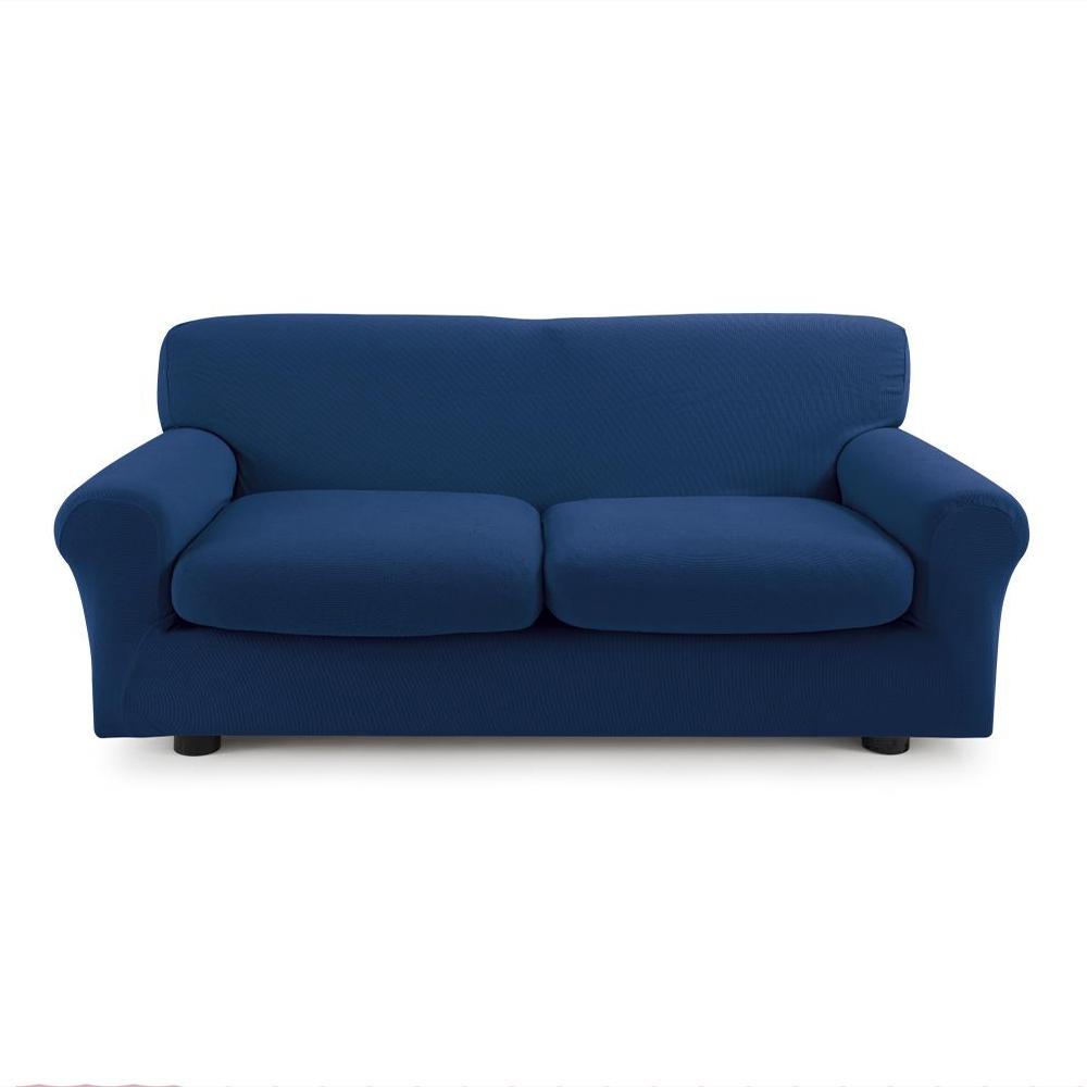 Copridivano 3 posti con 2 cuscini copri divano zapping zucchi blu - Copricuscini divano bassetti ...