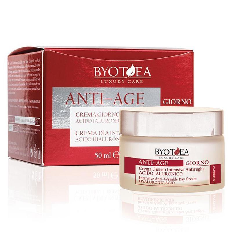 Crema giorno antirughe con acido ialuronico Byotea