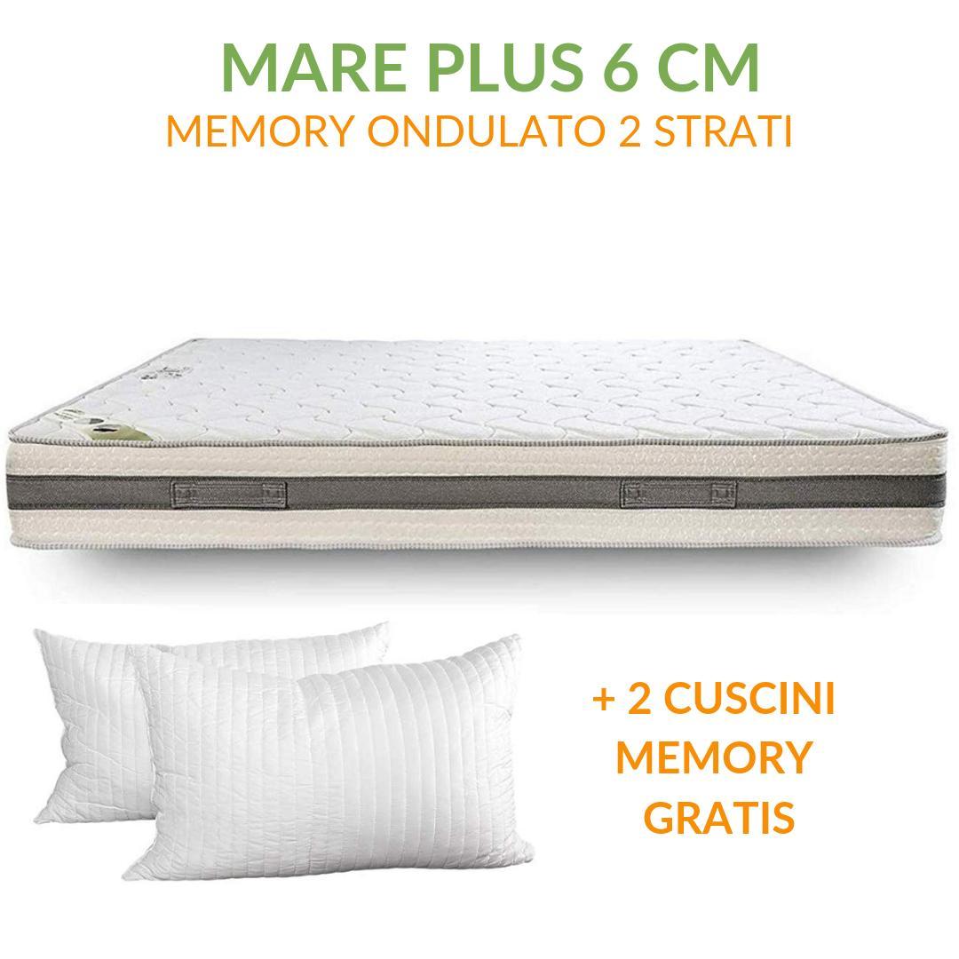 Materasso Memory 6 Cm.Materasso Memory Ortopedico A Onda 6cm H24 Mare Plus 6