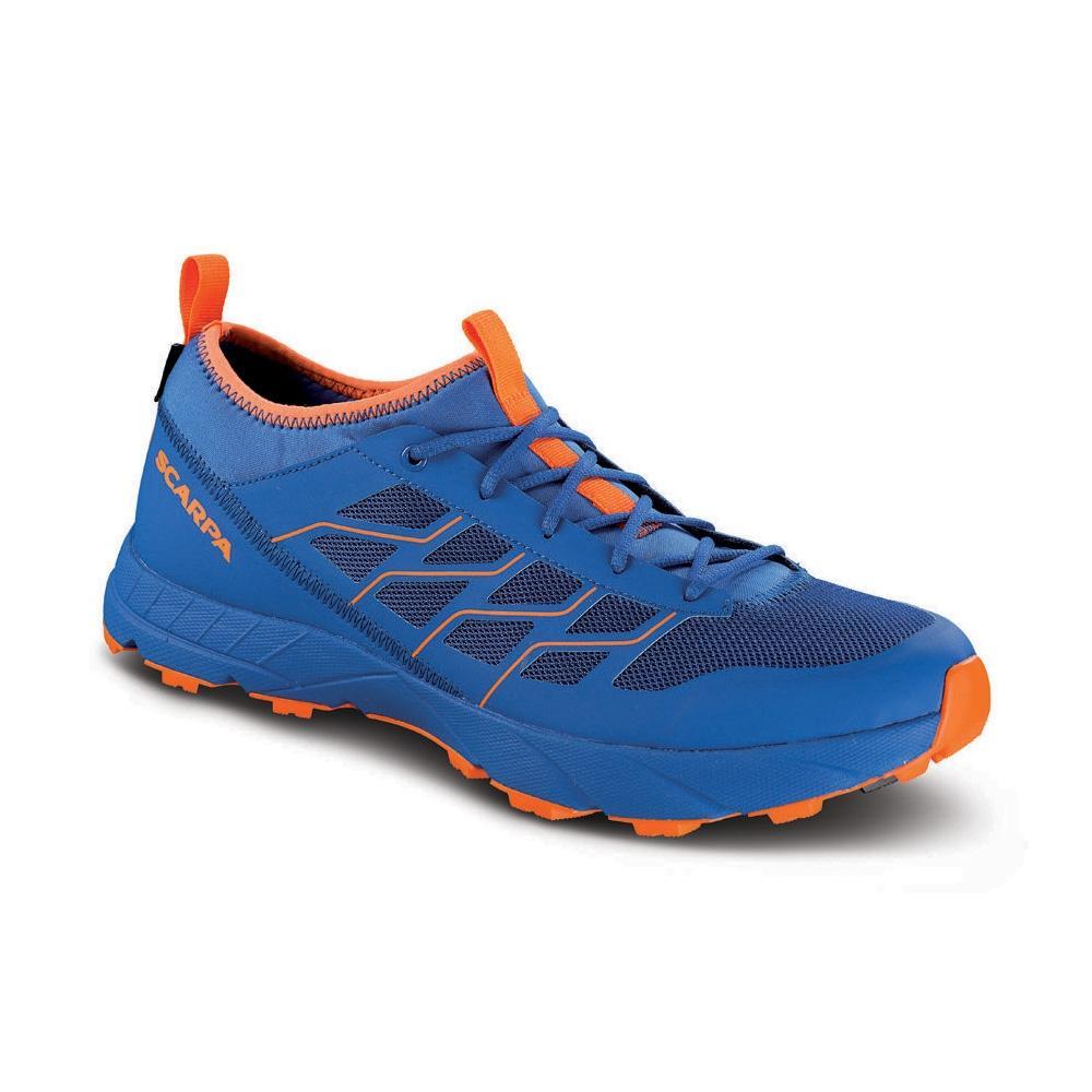 new product ca943 d1de8 Scarpa Atom SL GTX turkish sea/orange fluo - alpine running shoes | SCARPA