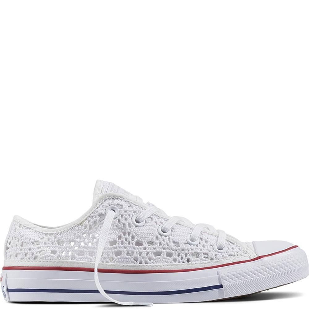 converse bianche traforate all uncinetto Online - Off54%