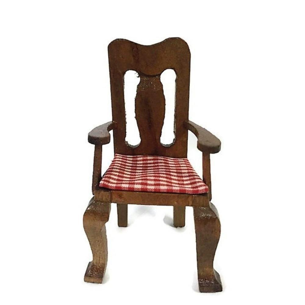 Sedia con cuscino in legno casa delle bambole   Il ...