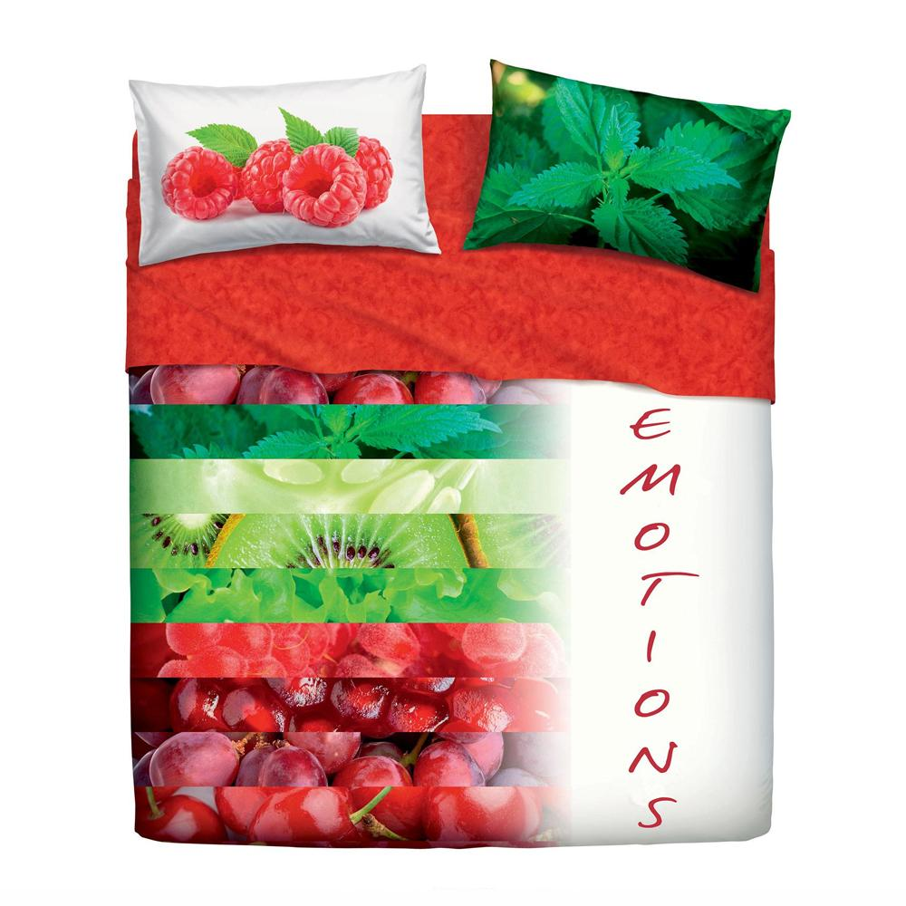 Set lenzuola letto piazza e mezza bassetti not only fruits for Eminflex singolo a 79 euro