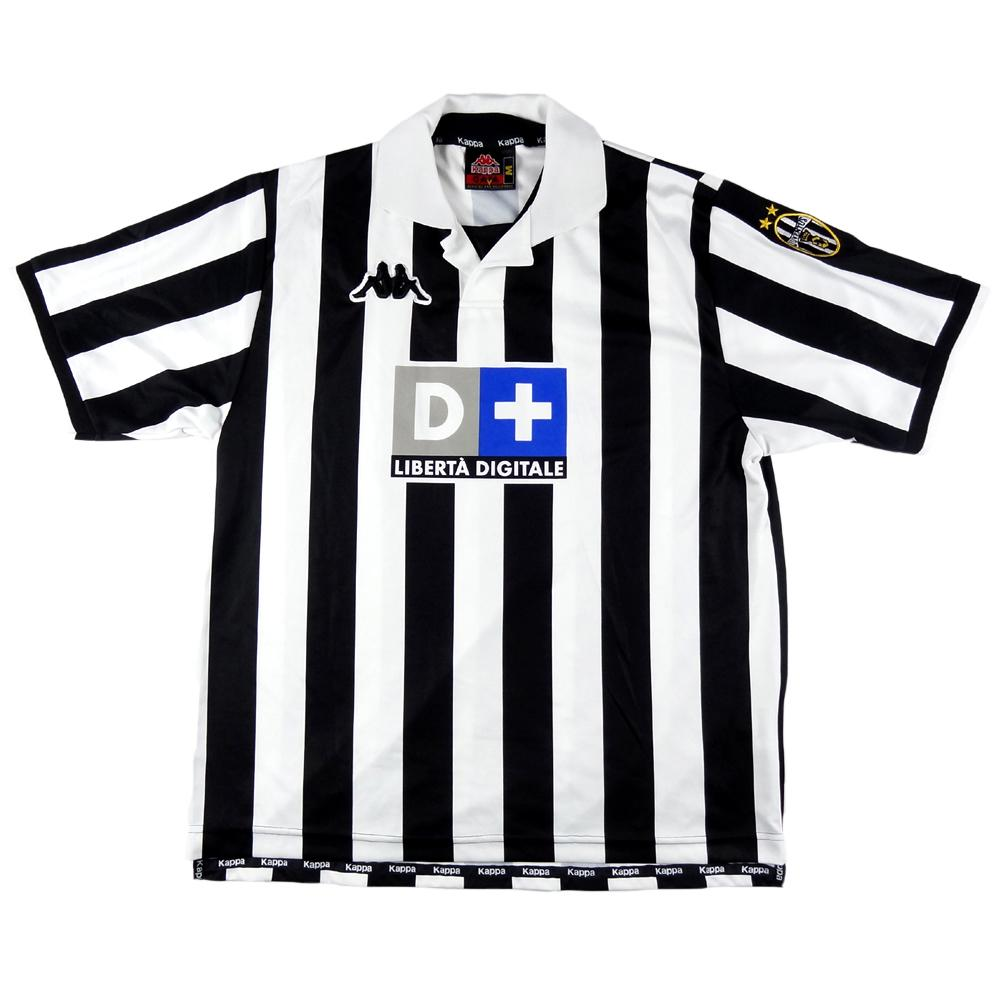 1998 99 juventus player issue 16 m shirt top top vintage football shirts