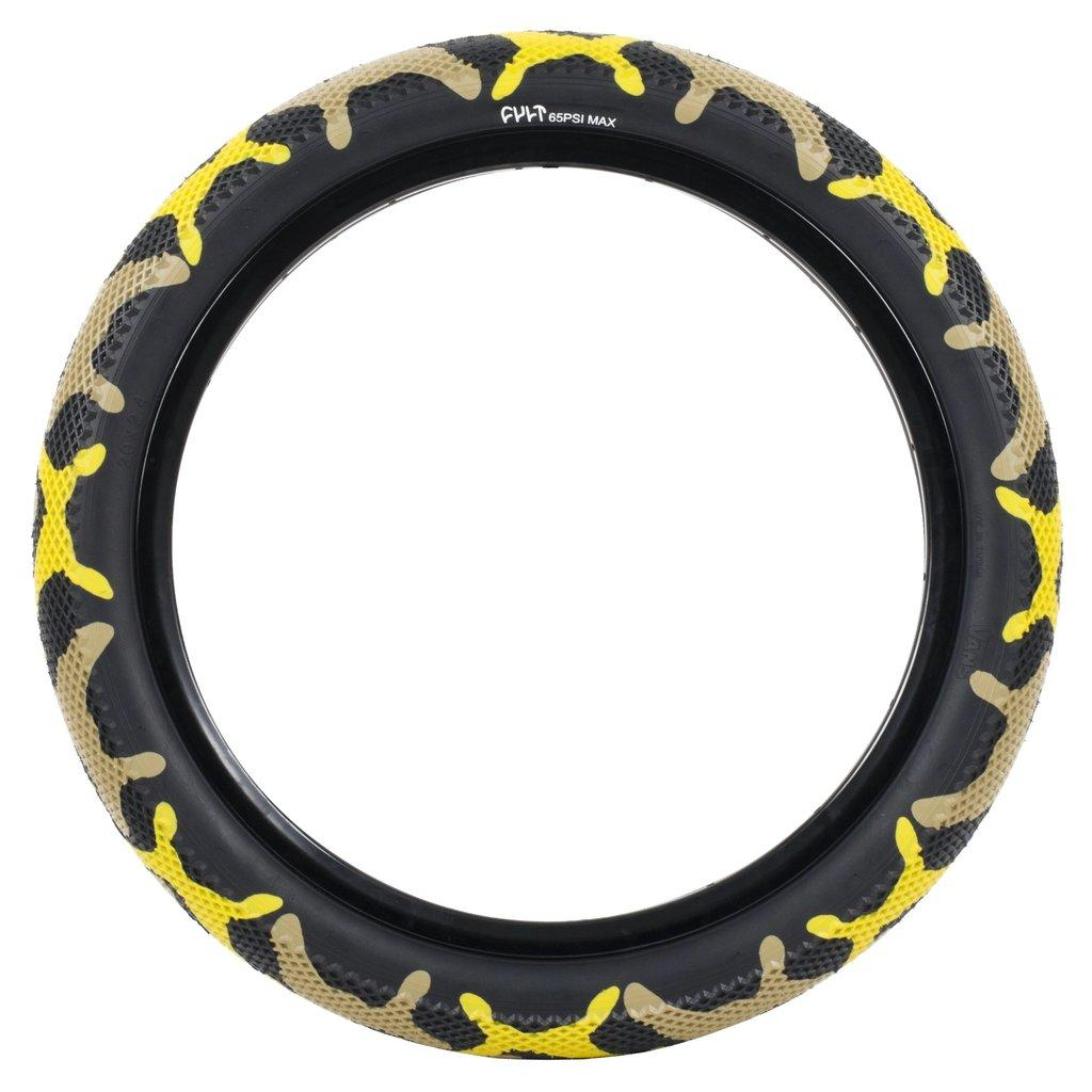 Cult X Vans Waffle Tire | Yellow Camo | Obsession Bmx Store