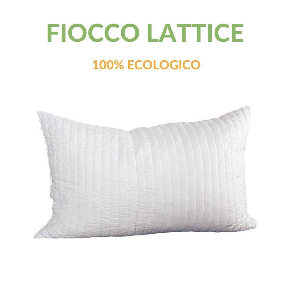 Cuscino In Lattice 100 Fiocchi Effetto Piuma D Oca Anallergico H 12cm Evergreenweb Materassi Beds
