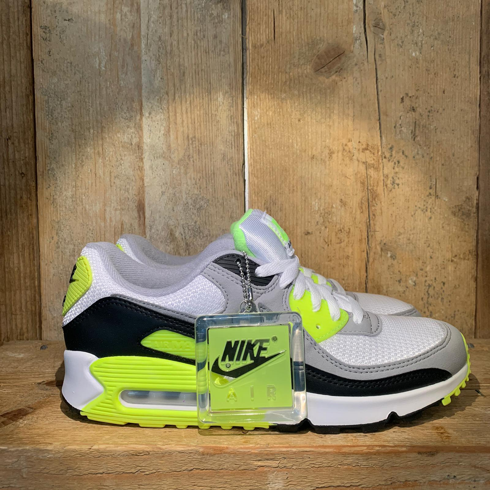 Scarpa Nike Air Max 90 Bianca Grigia e Giallo Fluo | TOUCHDOWN