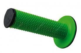 Manopole Racetech diamond per cross e motard. Nero/Verde