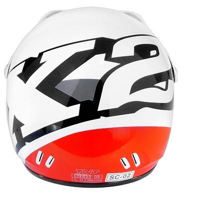 Casco cross bimbo bimba X2 fashion bianco/rosso SIZE YL 50
