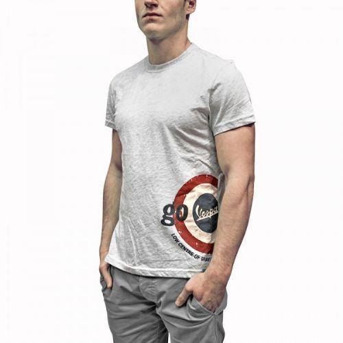 T-shirt uomo grigia go vespa tg M
