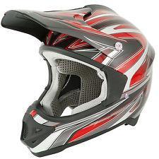 Casco stealth hd203 mx cross motard enduro quad rosso taglia m