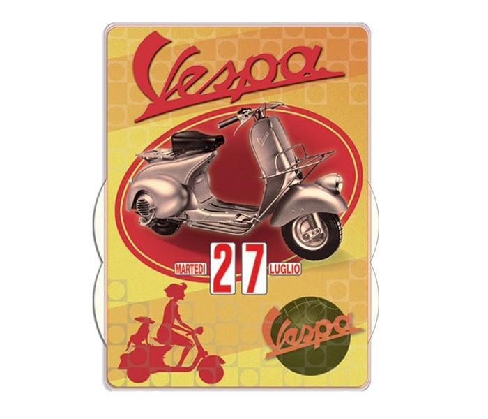 Calendario Perpetuo Da Parete.Calendario Perpetuo Vespa Vintage Da Parete 27 X 37 Mm