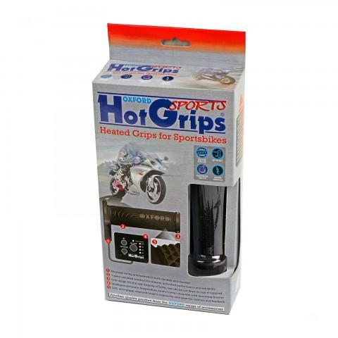 Manopole riscaldate Oxford Hot Grips Sports per moto e maxi scooter. Per manubri diametro 22 mm OF696