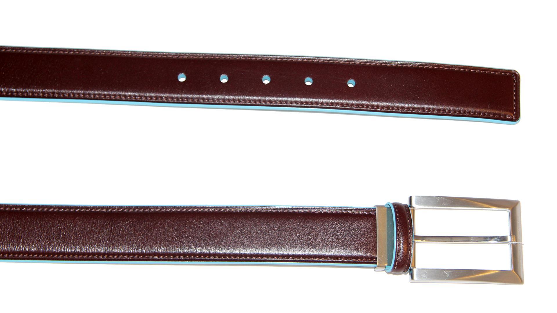 Belt  Piquadro Blue square CU1521B2 MOGANO tg. 110-125