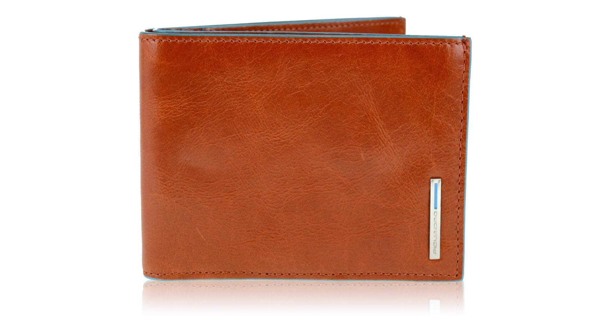 Man wallet Piquadro Blue square PU1241B2 ARANCIO