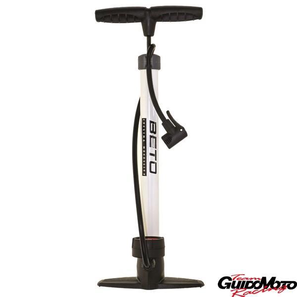 Pompa per gonfiaggio pneumatici biciclette, moto, auto con manometro