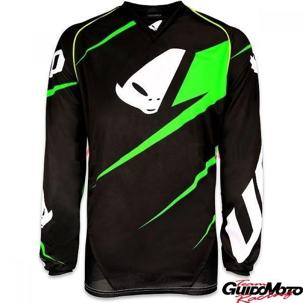 Maglia motocross Ufo Revolution Made in Italy nero/verde tg. XXL