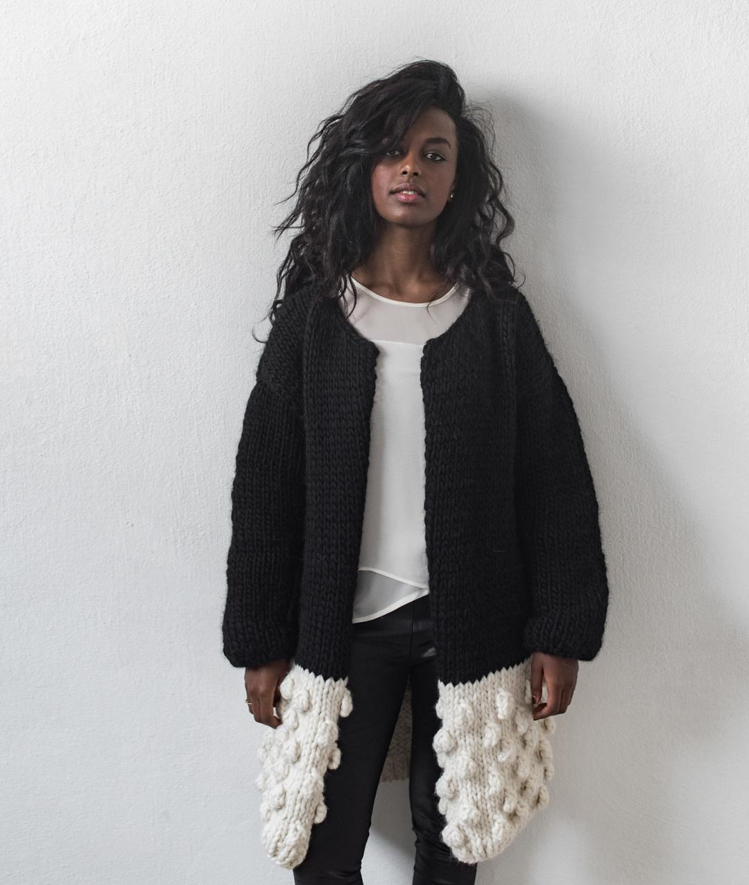 Sweaters and Tops - WoolCardigans and Vests  - Wool - THE BUBBLES COAT - 1