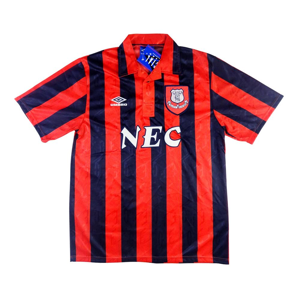 1992-93 Everton Maglia Away XL (Top) *CARTELLINO