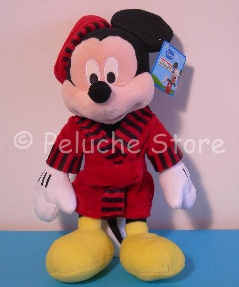 Disney Topolino Minnie Peluche in accappatoio Vestaglia Velluto 35 cm
