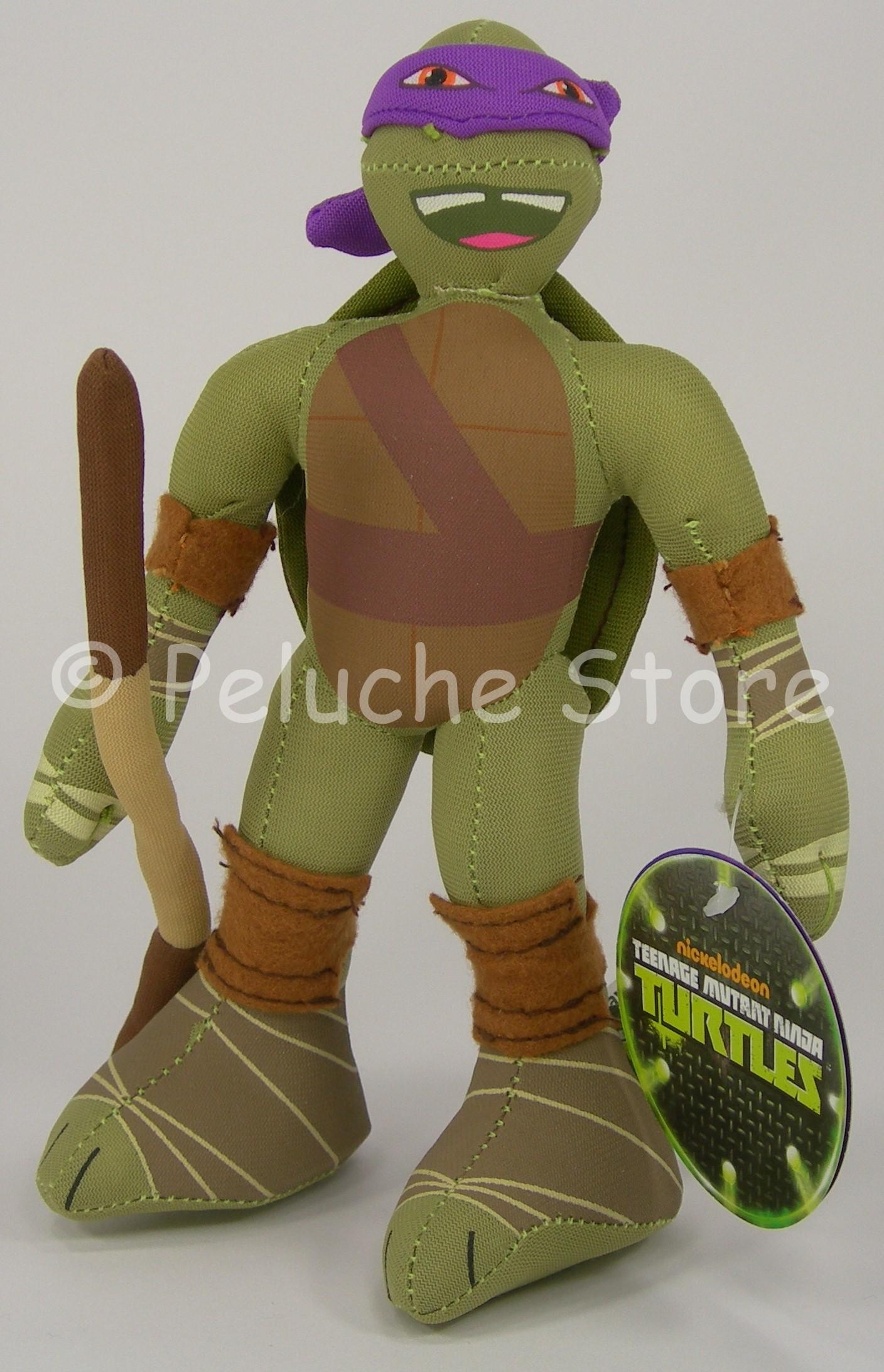 Tartarughe Ninja Turtles peluche 25 cm Michelangelo Raffaello Donatello Leonardo