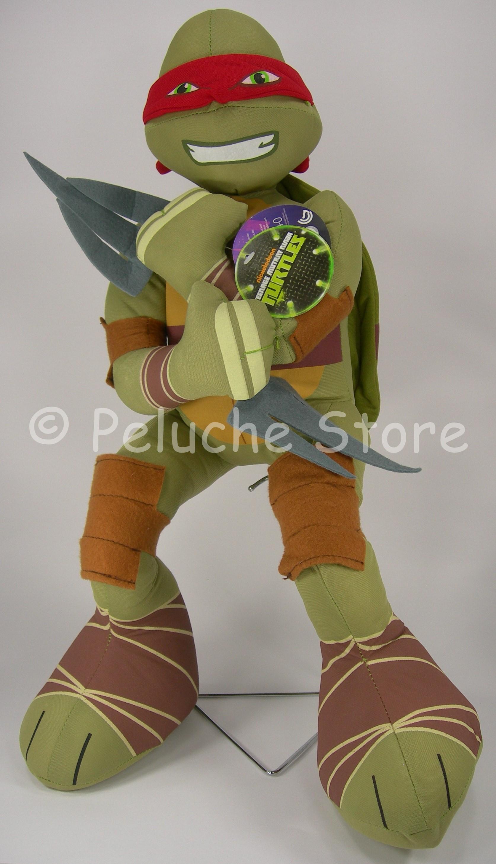 Tartarughe Ninja Turtles peluche Grande 50 cm Raffaello Donatello Originale