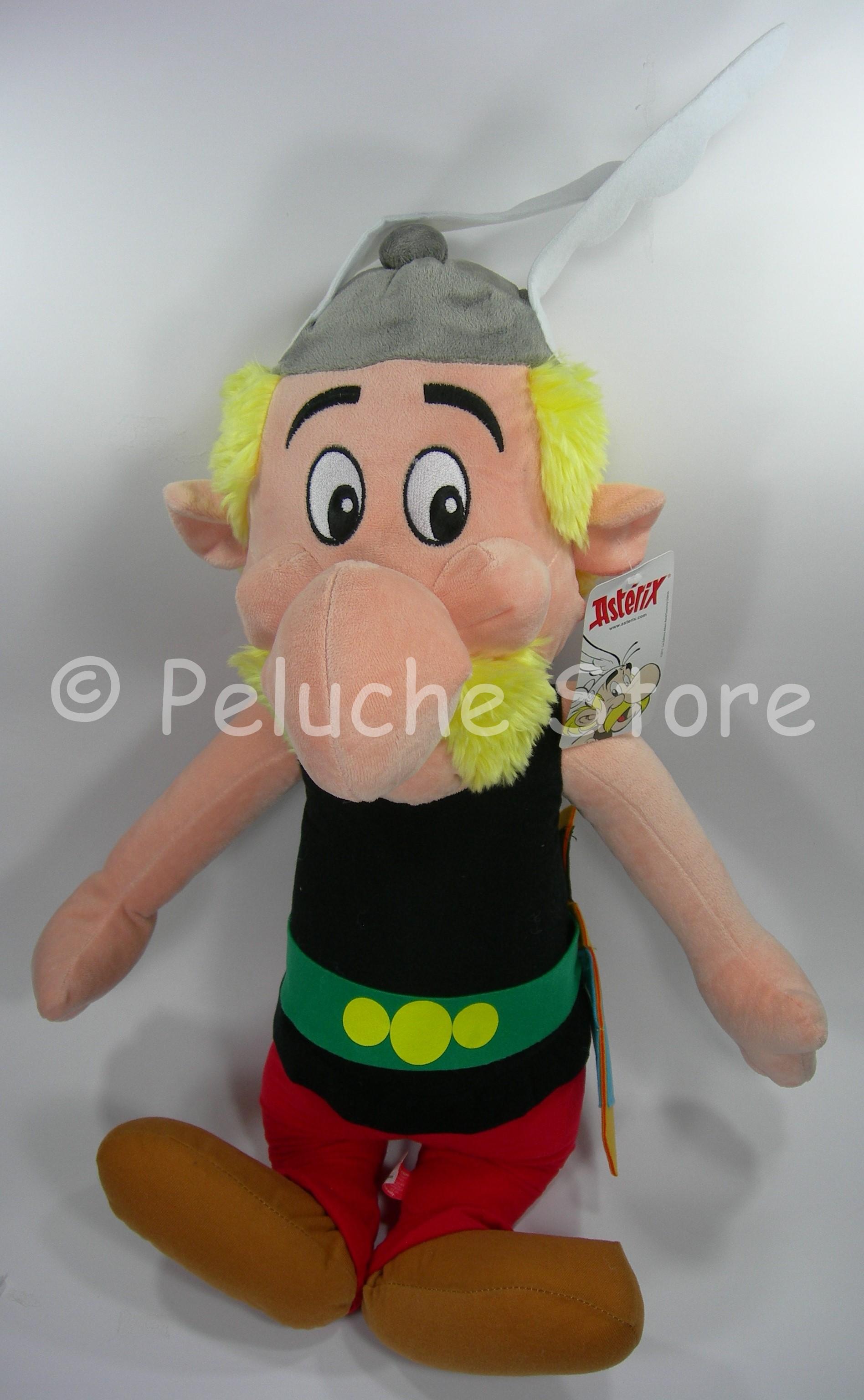 Asterix Obelix Idefix peluche Grande 70 cm Velluto Top Quality Originale.