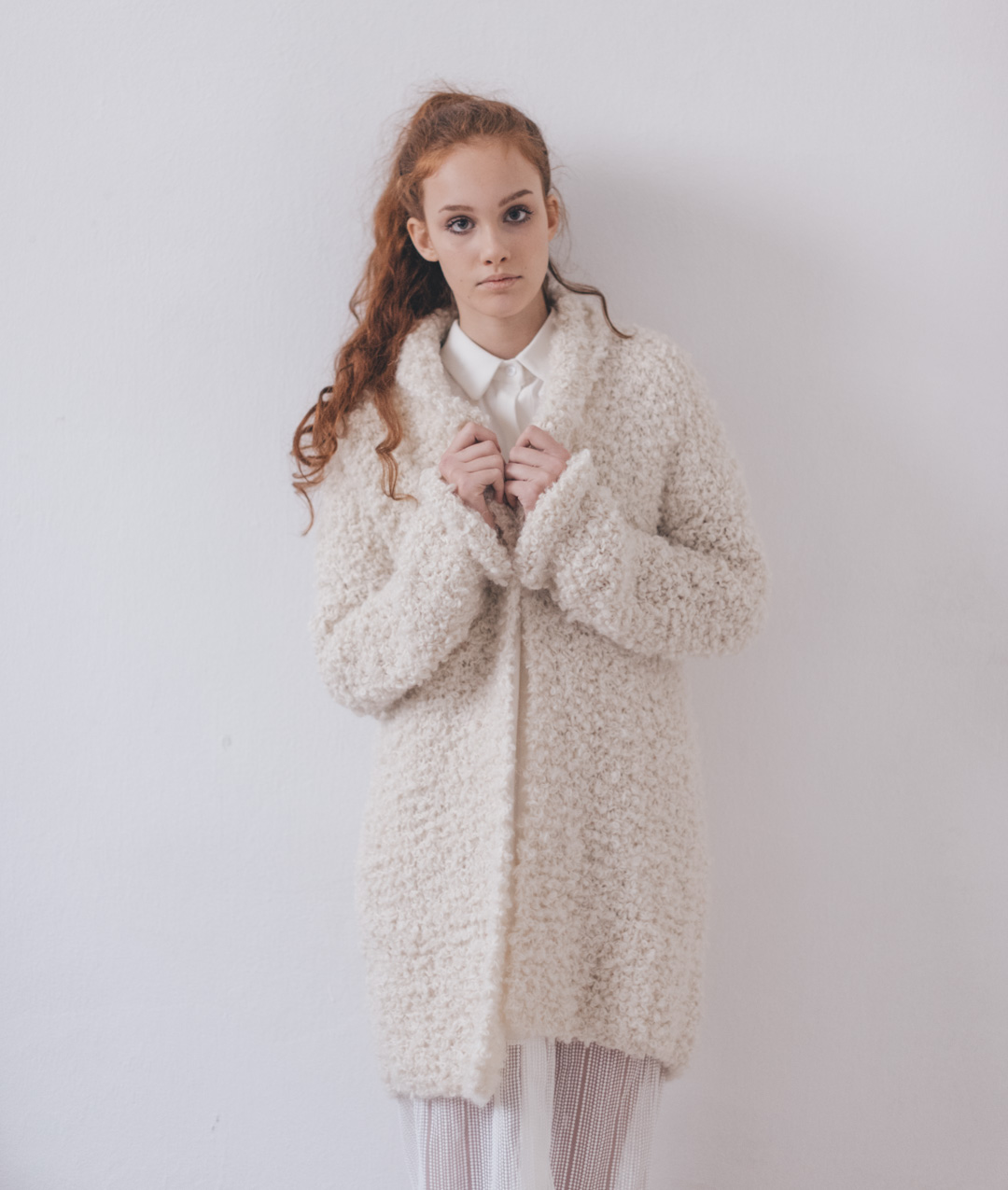 Cardigans and Vests  - Wool - Frilly Cardigan - 1