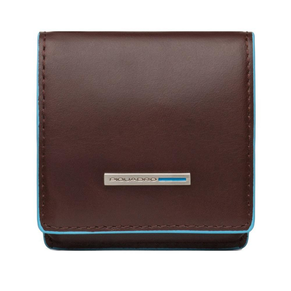 Coin holder  Piquadro Blue square PU2634B2 Mogano