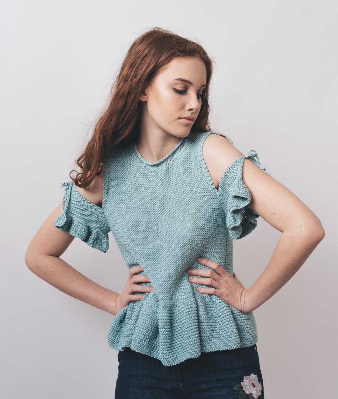 Dress - CottonSweaters and Tops - Cotton - AMALFI TOP - 1