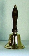 Campanello in ottone manico legno cm. 21
