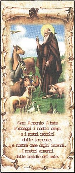 Cartoncino S. Antonio Abate cm. 8x19 (100 pz)