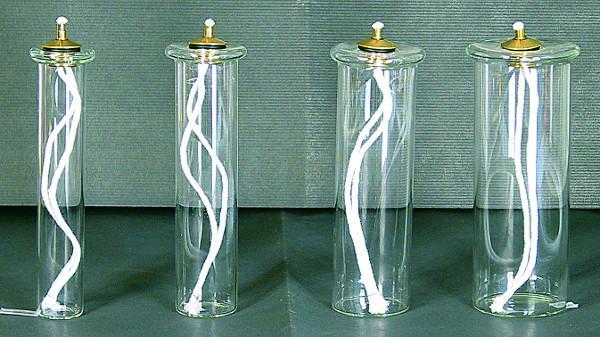 Cartuccia pirex mm. 28 per finta candela Ø 4