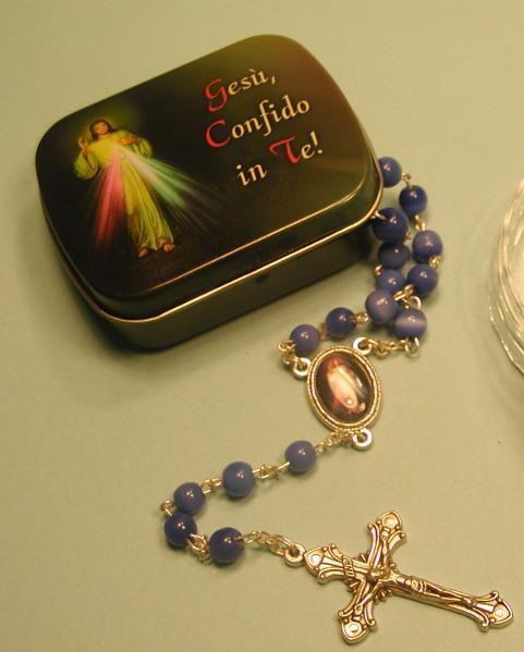 Cofanetto e corona Gesù Misericordioso