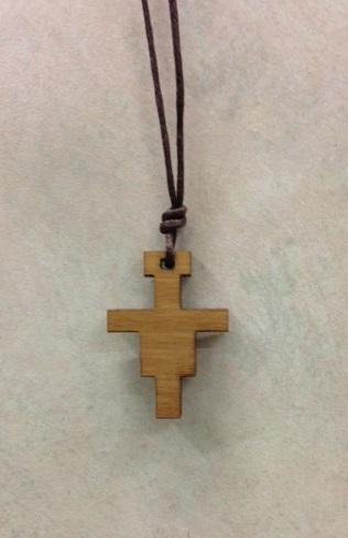 Croce Francescana legno ulivo