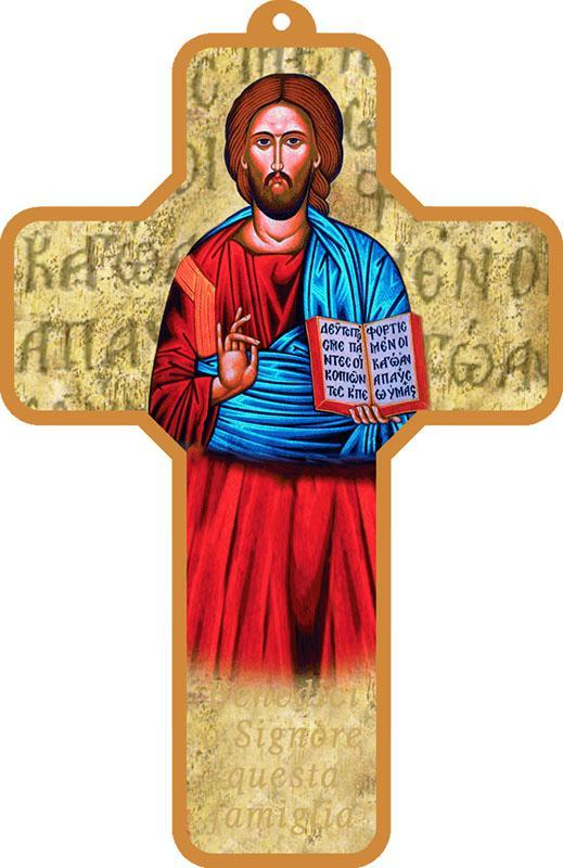 Croce pvc Pantocratore oro (100 pz)