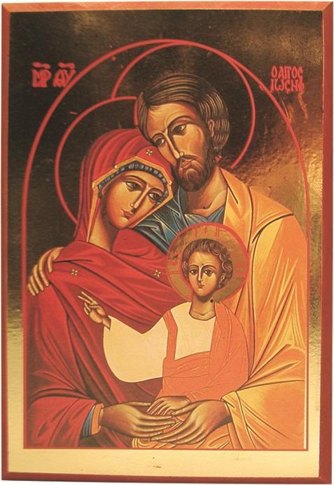 Icona liscia Sacra Famiglia