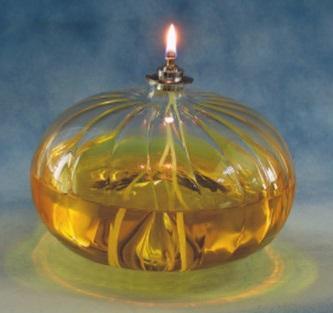 Lampada grande vetro soffiato