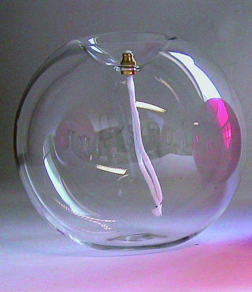 Lampada sfera vetro trasparente