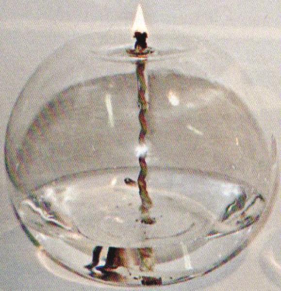 Lampada vetro diam. cm. 12