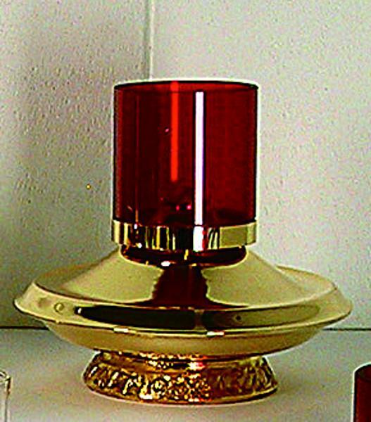 Lucerna vetro rosso cm. 20