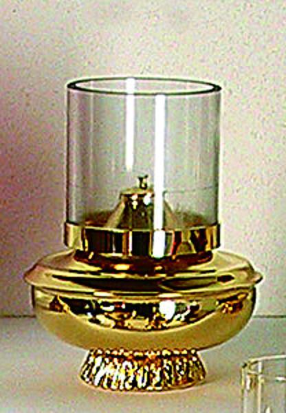 Lucerna vetro su base dorata