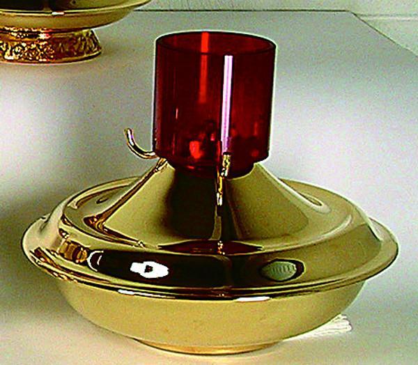 Lucerna vetro rosso cm. 25